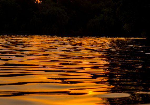 Apus de soare pe lacul Herastrau